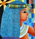 Painting after Egyptian relief, by Marten Jansen