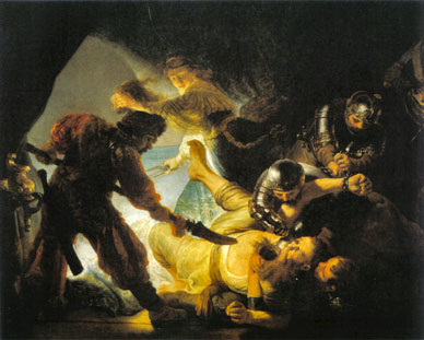 The art of Rembrandt, his drawings and paintings - The blinding of Samson, 1636
