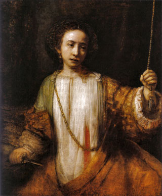 The art of Rembrandt, his drawings and paintings - Lucretia, 1666